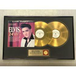 "Gold plated record - Elvis Presley ""24 KARAT HITS"""