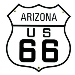 Enamel sign Arizona US 66