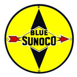 Enamel sign Blue Sunoco