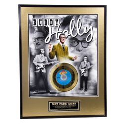"""Gold plated record - Buddy Holly """"Not Fade Away"""""""