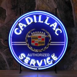 Cadillac Service neon with background