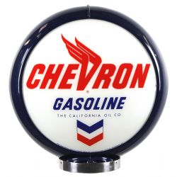 Gaspump globe Chevron Gasoline