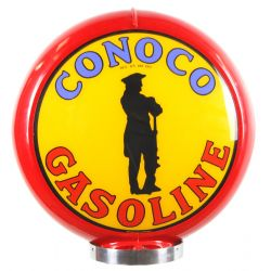 Gaspump globe Conoco Gasoline red