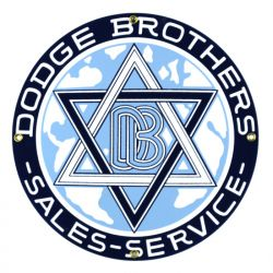 Enamel sign Dodge Brothers
