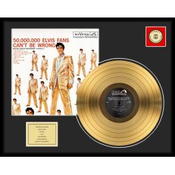 """Gold plated record - Elvis Presley """"50 Million Fans"""""""