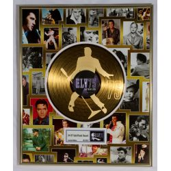 """Gold plated record - Elvis Presley """"75th birthday"""""""