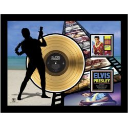 """Gold plated record - Elvis Presley """"Blue Hawaï Etched"""""""