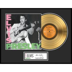 """Gold plated record - Elvis Presley """"Gold LP LE 1000"""""""