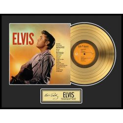 """Gold plated record - Elvis Presley """"Gold LP LE 2500"""""""