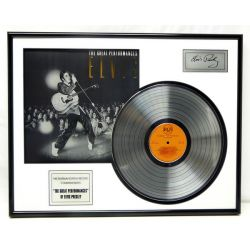 """Gold plated record - Elvis Presley """"Great Perfomances"""""""