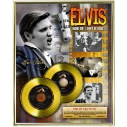 """Gold plated record - Elvis Presley """"Hound Dog - Don't Be Cruel"""""""