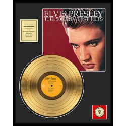 """Gold plated record - Elvis Presley """"The 50 Greatest Hits"""""""