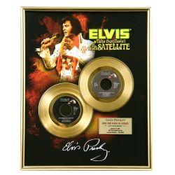 "Gold plated record - Elvis Presley ""Via Satellite"""