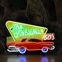 Fabulous 50's neon with background