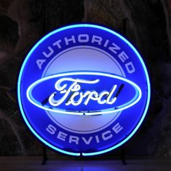 Ford Service neon with background