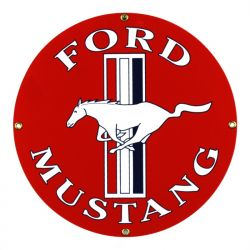 Enamel sign Ford Mustang