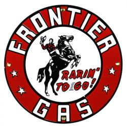 Enamel sign Frontier Gas