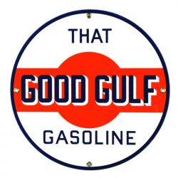 Enamel sign Gulf Gasoline
