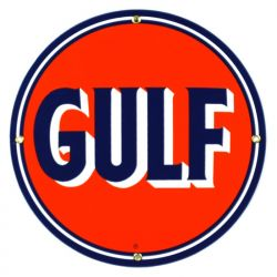 Enamel sign Gulf