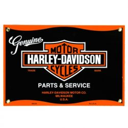 Enamel sign Harley Parts