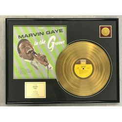 """Gold plated record - MARVIN GAYE  """"IN THE GROOVE"""""""
