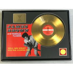 """Gold plated record - JAMES BROWN  """"TELL ME WHAT YOU'RE GONNA DO"""""""