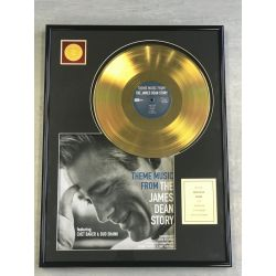 """Gold plated record - JAMES DEAN """"THE JAMES DEAN STORY"""""""
