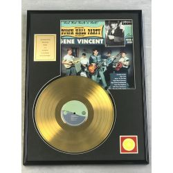 """Gold plated record - GENE VINCENT """"TOWN HALL PARTY"""""""