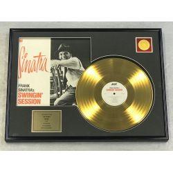 "Gold plated record - FRANK SINATRA ""SWINGIN' SESSION"""