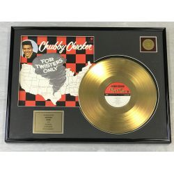 """Gold plated record - CHUBBY CHECKER """"FOR TWISTERS ONLY"""""""