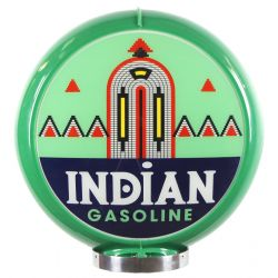 Gaspump globe Indian Gasoline