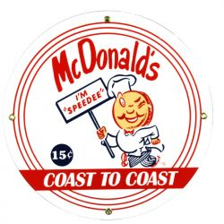 Enamel sign McDonalds