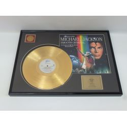 """Gold plated record - Michael Jackson """"Smooth Criminal"""""""