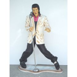 Statue Elvis Singing Lifesize