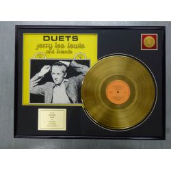 """Gold plated record - JERRY LEE LEWIS """"DUETS"""""""