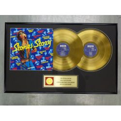 """Gold plated record  - THE ROLLING STONES """"STONE STORY"""""""
