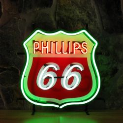 Phillips 66 neon with background
