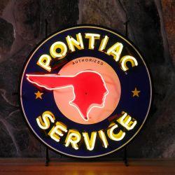 Pontiac neon with background