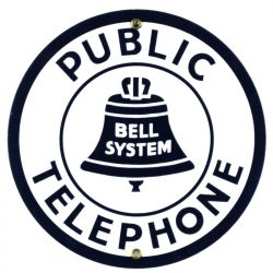 Enamel sign Public Telephone