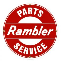 Enamel sign Rambler Parts Service