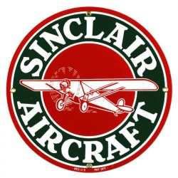 Enamel sign Sinclair Aircraft