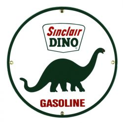 Enamel sign Sinclair Dino