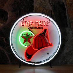 Texaco Firechief neon with background