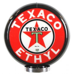 Gaspump globe Texaco Ethyl Black