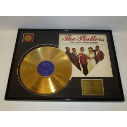 """Gold plated record - The Platters """"The Great Pretender"""""""
