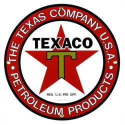 Enamel sign The Texas Company