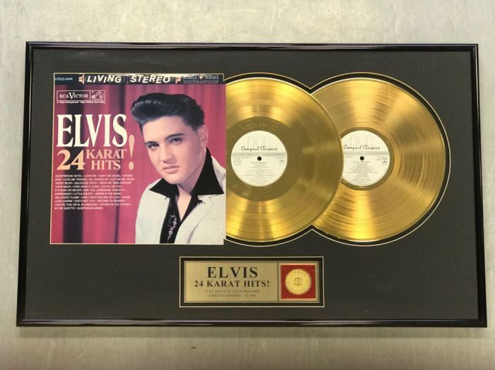 "Gold plated record - Elvis Presley ""24 KARAT HITS"""