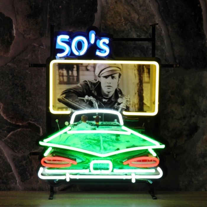 50's Drive In neon with background