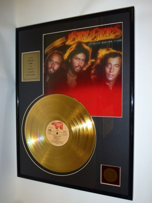 "Gold plated record - Bee Gees  ""Spirits Having Flown"""