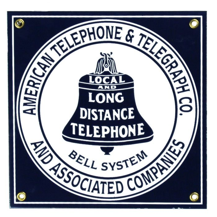 Enamel sign Bell System
